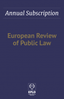 Annual Subscriptions of European Review of Public Law